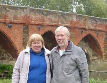 Steve and Gill on a walk near their home